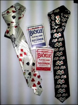 Set cravatte nera bianca e mazzi Bicycle second