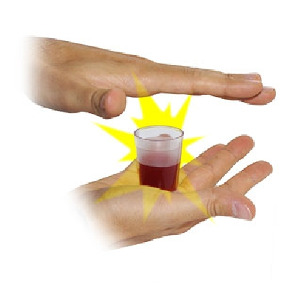 Sparizione del bicchiere pieno d acqua