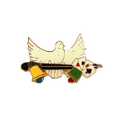 Spilla da mago colomba