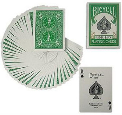 Bicycle green deck