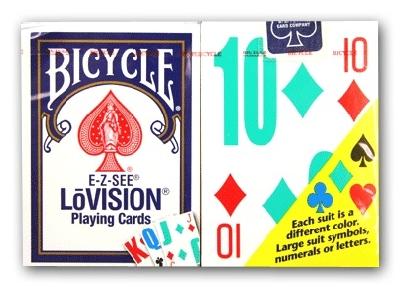 Lovision Bicycle dorso blu o rosso