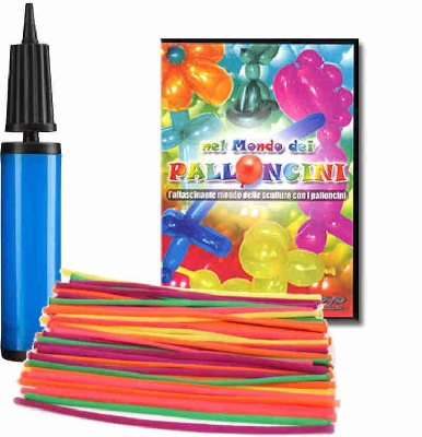 Kit palloncini manipolabili con DVD e pompa
