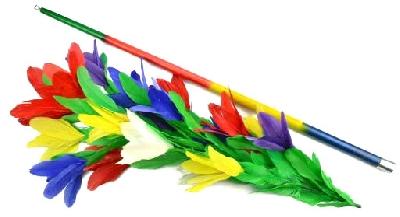 Sparizione di bastone acciaio cromato a bouquet di fiori