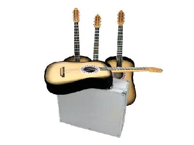 Apparizione di 4 chitarre da valigia