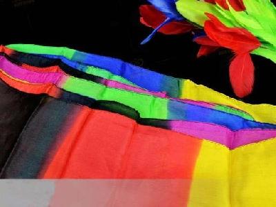 Foulard streamer colorato lungo 45x1000cm