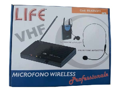 Radiomicrofono archetto professionale wireless LIFE 90KRV211