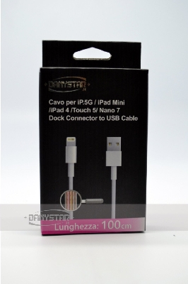 Cavo Dati iOS 7 da Lightning a USB 8 Pin per iPhone 5S iPhone 5C iPad
