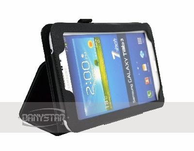 Custodia Cover in Ecopelle Nera per Samsung Galaxy Tab 3 70 P3200 Gala