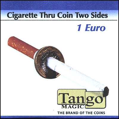 Sigaretta attraverso 1 euro moneta doppia faccia TANGO