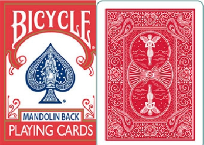 BICYCLE PLAYING CARDS 809 MANDOLIN BACK dorso rosso o blu