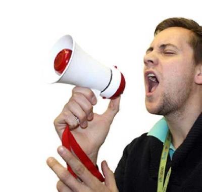 Mini megafono a pile