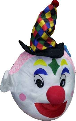 Mascotte clown con costume