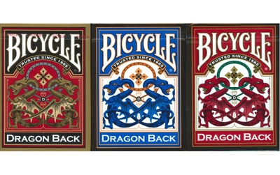 Bicycle Gold Dragon dorso blu o rosso