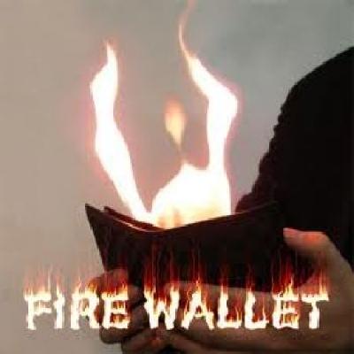 Portafoglio in fiamme