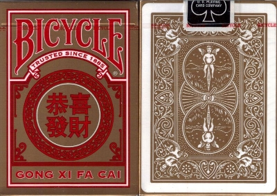 Gong Xi Fa Cai card Bicycle