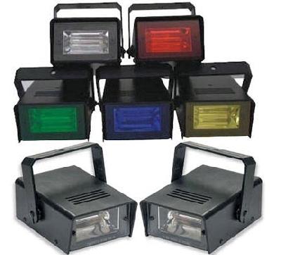 Lampada stroboscopica in varie colorazioni