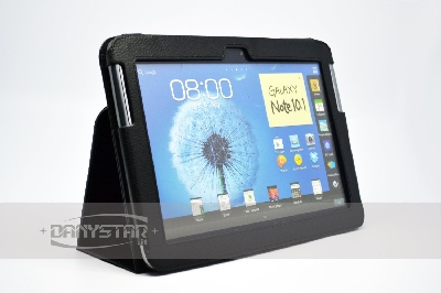 Custodia Cover in Ecopelle Nera per Samsung Galaxy Note 101 N8000 N801