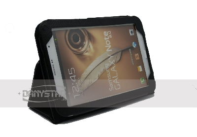 Custodia Cover in Ecopelle Nera per Samsung Galaxy Tab Note 80 N5100 N