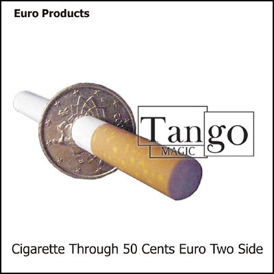 Sigaretta attraverso la moneta 050 euro ambi lato TANGO