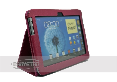 Custodia Cover in Ecopelle Fucsia per Samsung Galaxy Note 101 N8000 N8