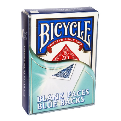 Mazzo faccia biancadorso blue Bicycle