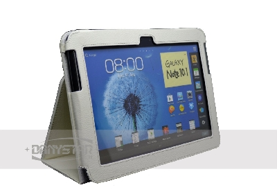 Custodia Cover in Ecopelle Bianca per Samsung Galaxy Note 101 N8000 N8
