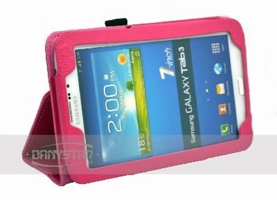 Custodia Cover in Ecopelle Fucsia per Samsung Galaxy Tab 3 70 P3200 Ga