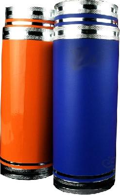 Double tube produzione colore arancio