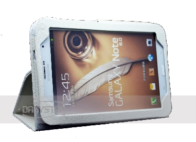 Custodia Cover in Ecopelle Bianca per Samsung Galaxy Tab Note 80 N5100