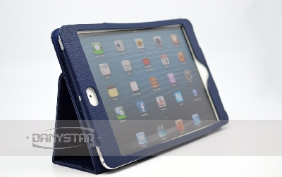 Custodia Cover in Ecopelle Blu per iPad Mini Accessori per Tablet Dany