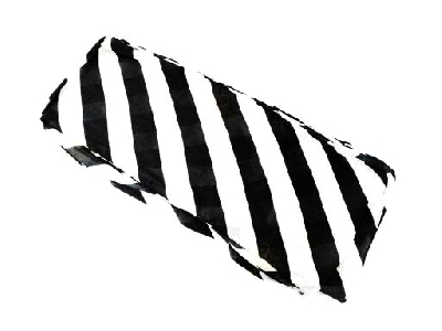 Foulard streamer Bianco Nero lungo 16x500cm
