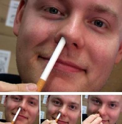 Sigaretta nel naso Gary Kosnitzkys