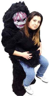 Mascotte scimmione ti prende in braccio