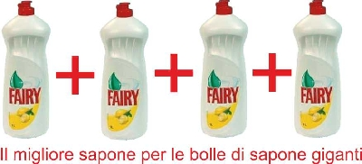 Fairy Lemon 1000 ml Concentrato Per Bolle Giganti 4 bottiglie
