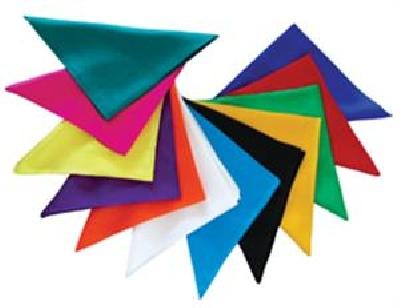 Foulard colorato 45x45cm colori vari