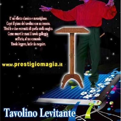 Tavolino levitante professionale legno