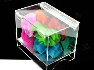 Box apparizione fiori in plexiglass