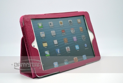 Custodia Cover in Ecopelle Fucsia per iPad Mini Accessori per Tablet D