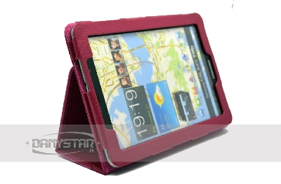 Cover Custodia in Ecopelle Fucsia per Samsung Galaxy Tab 77 P6800 Acce