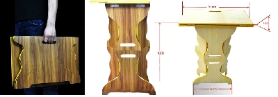 Tavolino istantaneo in legno