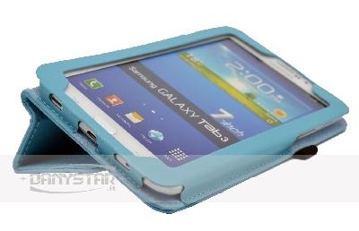 Custodia Cover per Samsung Galaxy Tab 3 70 P3200 T210 Celeste Accessor