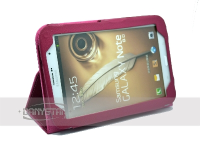 Custodia Cover in Ecopelle Fucsia per Samsung Galaxy Tab Note 80 N5100