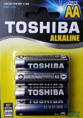 Batterie Stilo AA LR6 15V Alkaline Toshiba 4 pezzi
