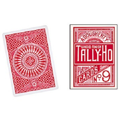 TALLY HO CIRCLE FORMATO POKER DORSO rosso
