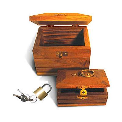 Forziere corsaro in legno