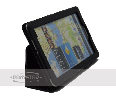 Custodia Cover in Ecopelle Nera per Samsung Galaxy Tab 77 P6800 Access