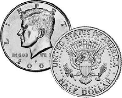 Mezzo dollaro 1 pezzo
