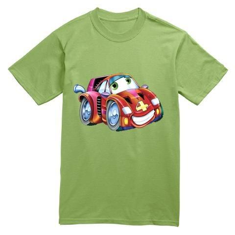 T Shirt Bambini Cars Auto Rossa