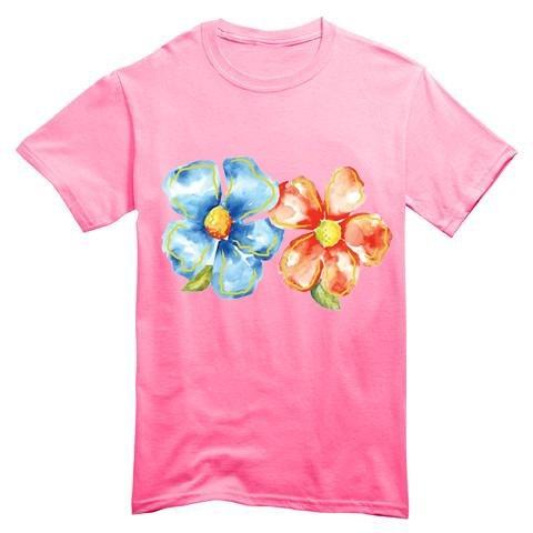 T Shirt Bambino Fiori Colori