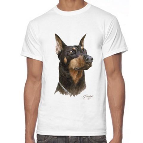 T Shirt Uomo Doberman Cane